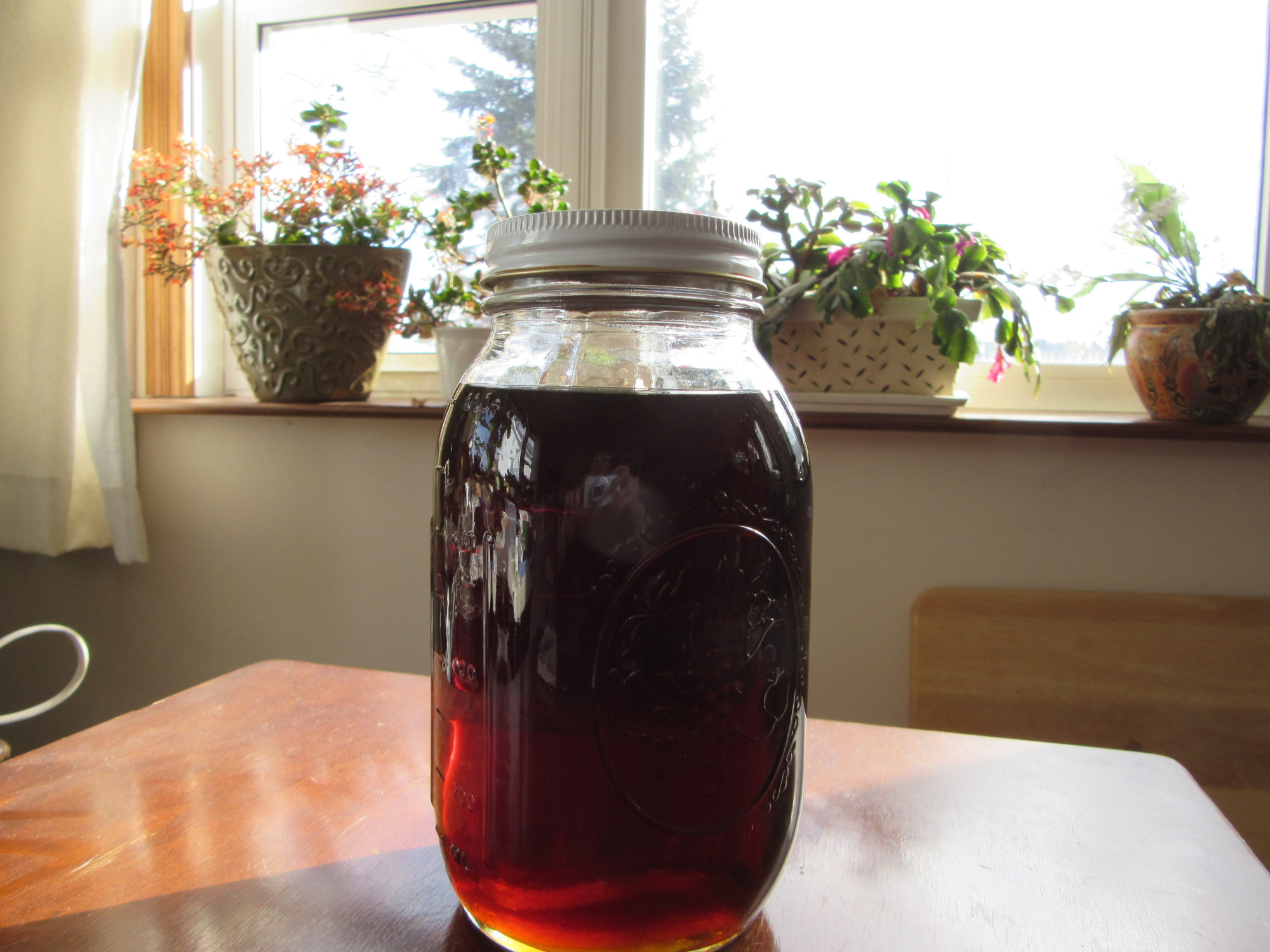 First sap run finished - just over 4 gallons of syrup, a little darker than usual first run.